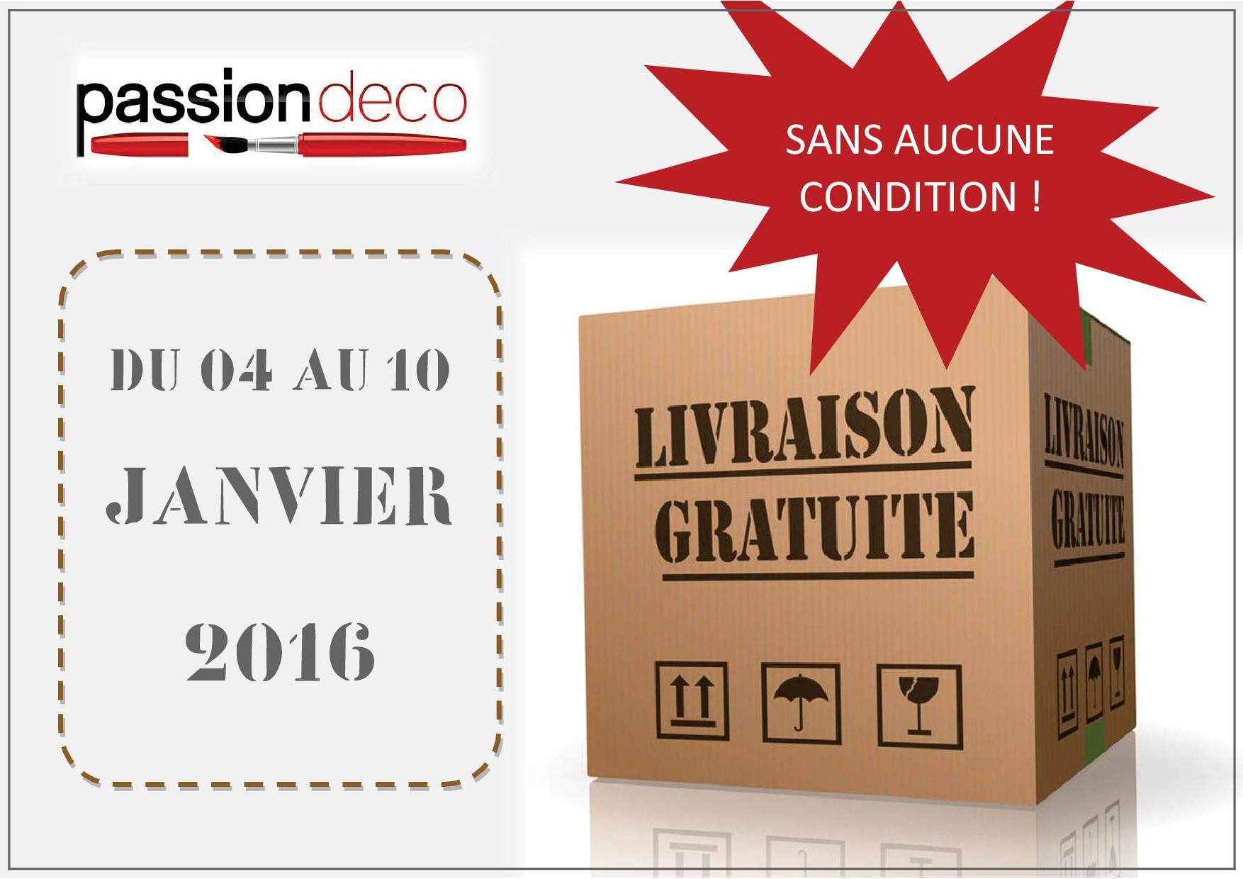 offre frais de livraison vdi passion d co. Black Bedroom Furniture Sets. Home Design Ideas